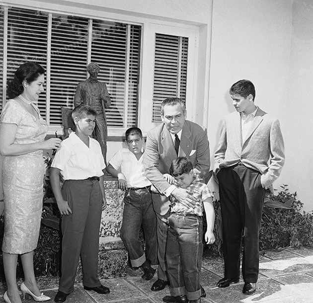 Fulgencio Batista with Family