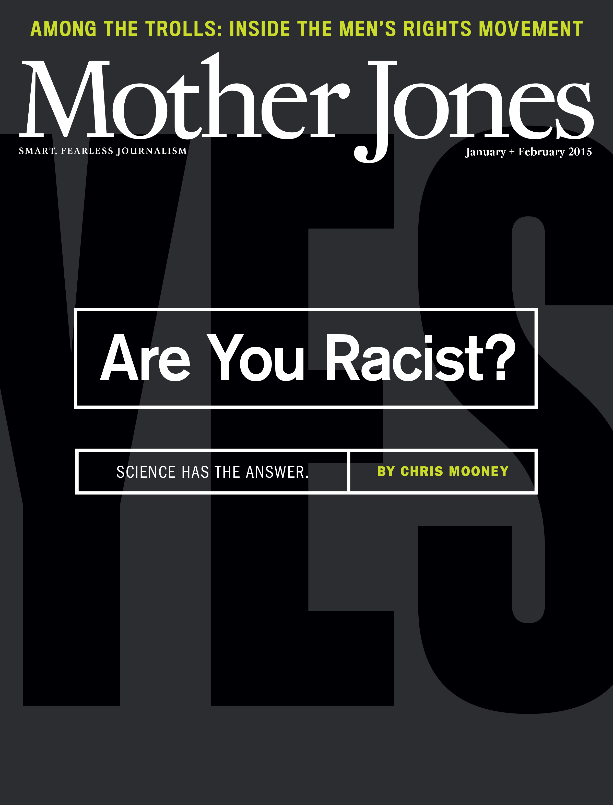 Mother Jones Magazine Cover : January + February 2015