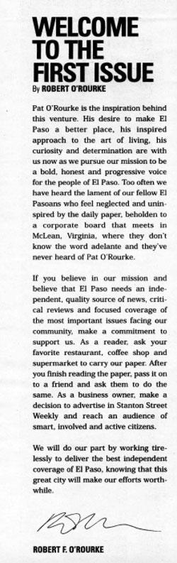 O'Rourke's publisher's letter