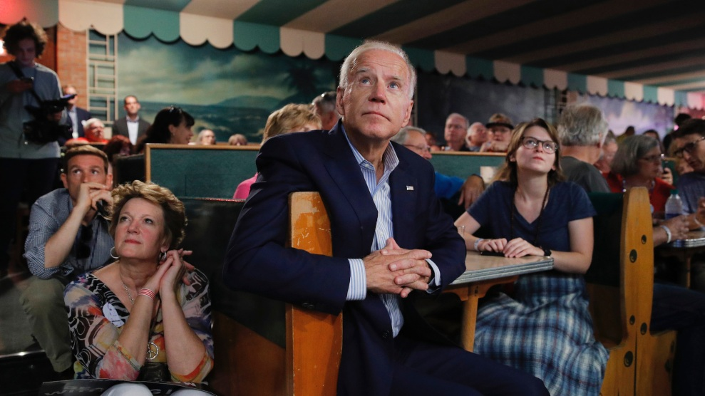 header image of Biden in Iowa