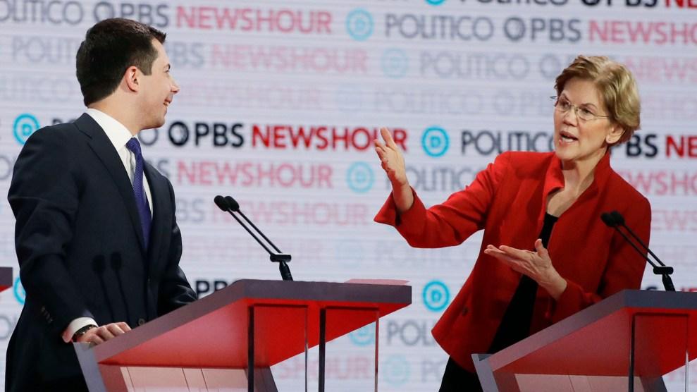 Elizabeth Warren and Pete Buttigieg