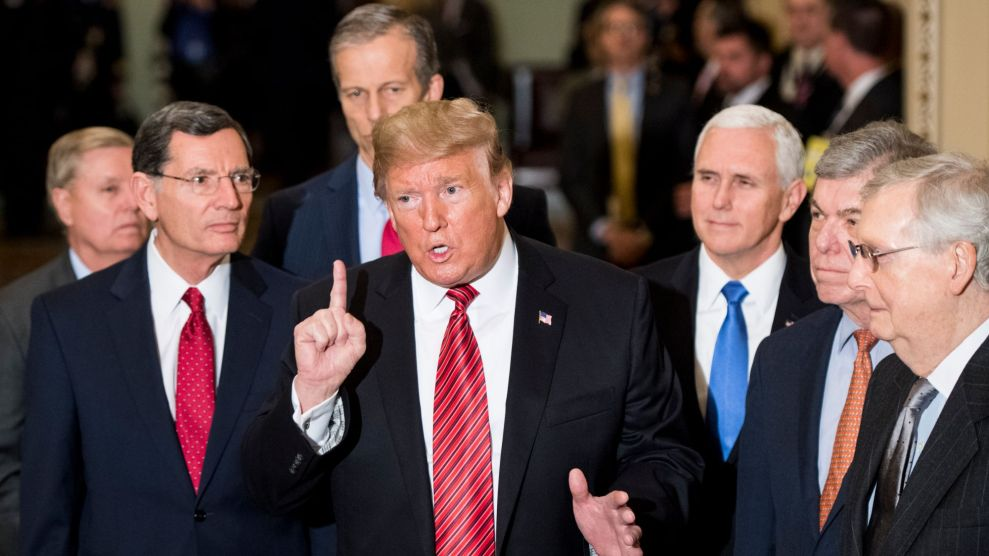 Trump with Senate Republicans