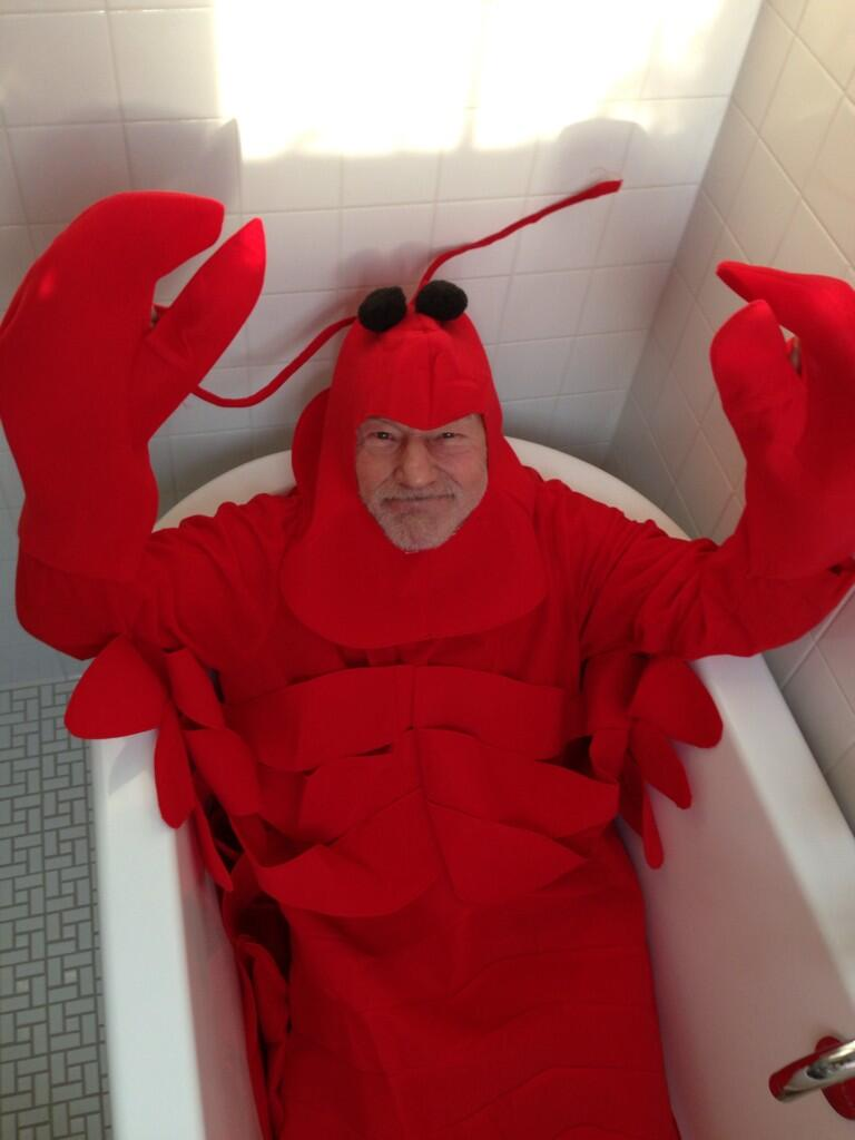 Patrick Stewart lobster Halloween costume