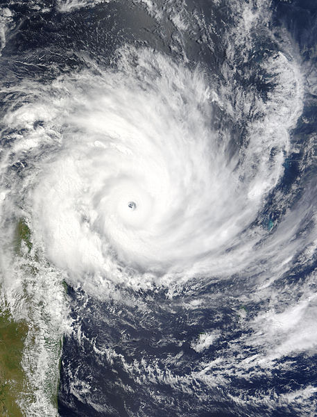 Category 5 Cyclone Gafilo on March 6, 2004.