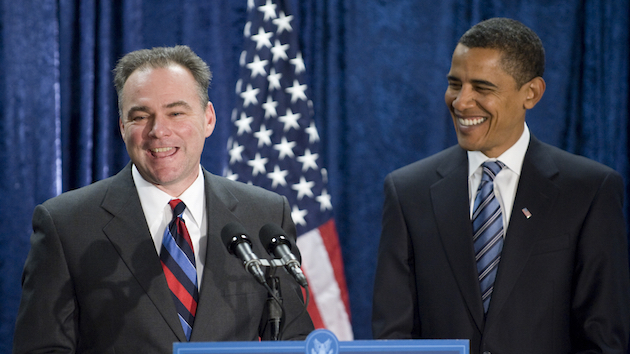 Tim Kaine and Barack Obama