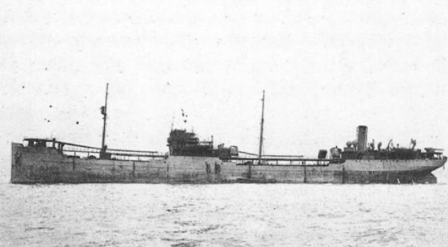 The tanker Gulfstate before it was torpedoed in 1943.