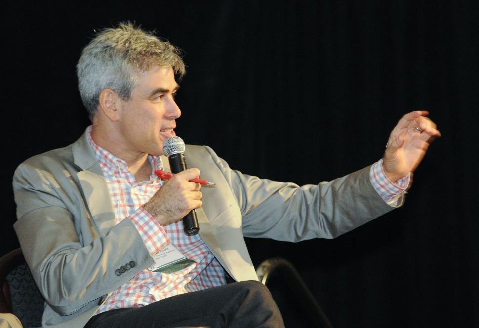 Jonathan Haidt at a recent panel on civil discourse.