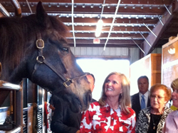 Ann Romney visits a riding-therapy center June 6 in Florida. Twitter