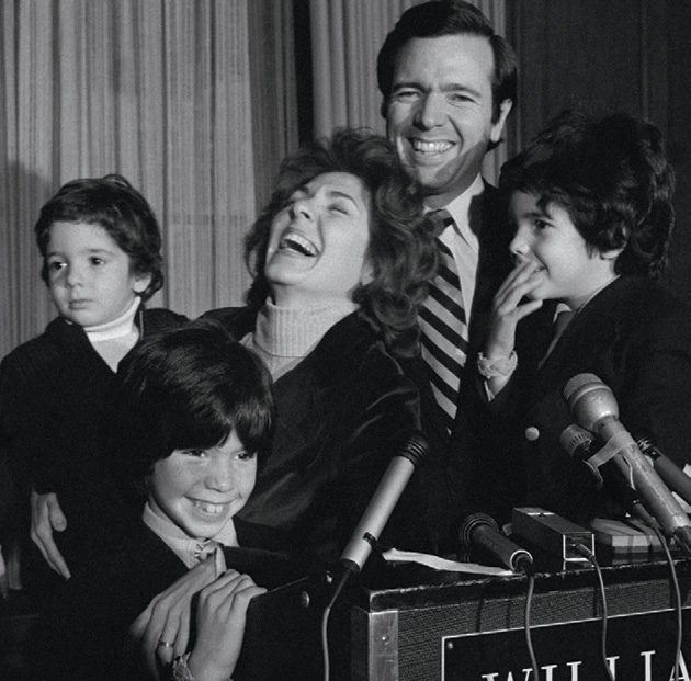 ohn and Teresa Heinz, with their sons Chris, John, and Andre?, announcing his Senate bid in 1975